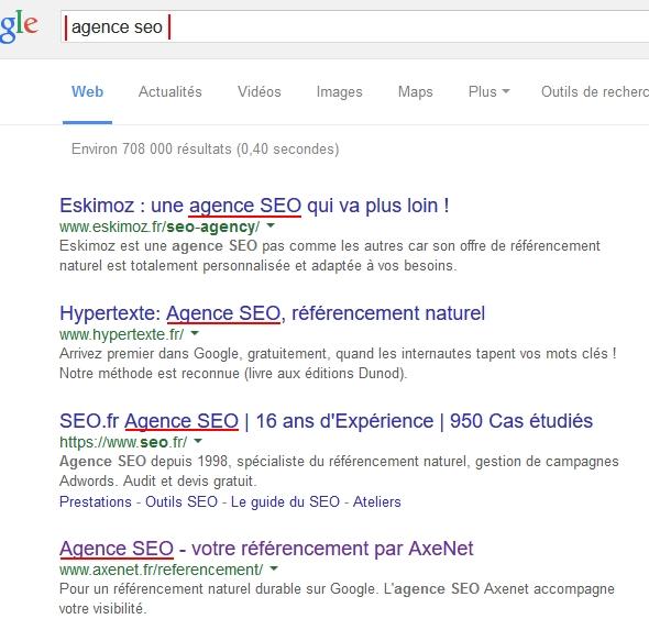 affichage title sur Google