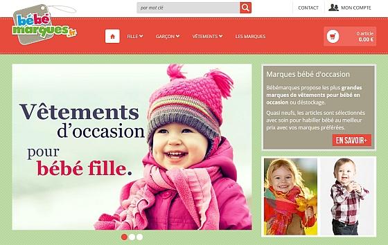 Page d'accueil du site bebemarques